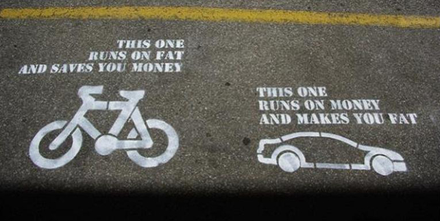 bike-runs-on-fat-saves-you-money_car-runs-on-money-makes-you-fat